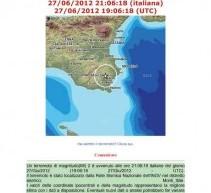 Aggiornamento (ore 23)- Canicattini B. Continua sciame sismico ultima scossa ore 21,06 Md 2 – Alle 3,14 minuti la più forte di 3,7 di magnitudo.