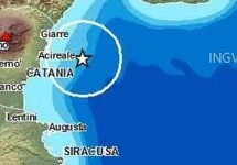 SISMA IN MARE Magnitudo 2,2  NEL GOLFO DI CATANIA