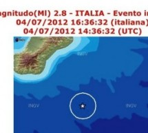 Siracusa- Dopo il sisma di 4,7 nel mar ionio si registra Md 2,8 alle16,36 minuti del 4 luglio