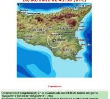 SISMA A CALTAGIRONE DI MAG 2.1 IN DATA 10 AGOSTO