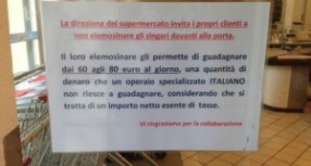 """Catania- Singolare protesta dei  titolari di un Supermercato:""""Clienti, non date soldi ai Rom guadagnano troppo"""". Anche a Siracusa il problema c'è, eccome!"""