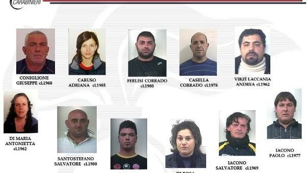 """Noto – I Carabinieri nell'operazione """"Kepha"""" arrestano 24 persone dedide allo spaccio che operavano tra Sicilia e Calabria"""