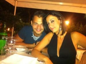 Valentina Milluzzo insieme al marito Francesco Castro