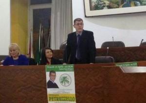 Il candidato sindaco  Stefano Petruzzello