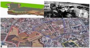 L'area ex Onp prescelta per il nuovo ospedale e una bozza progettuale della struttura