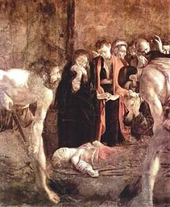 Il seppellimento di Santa Lucia, Opera del Caravaggio