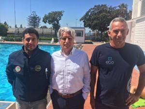 da sin, Gino Leone, Feliciano Di Blasi e il preparatore atletico Marco