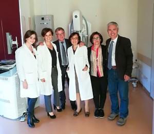 Il team medico del reparto senologia