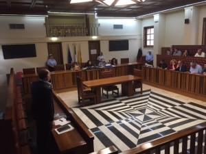 L'aula vuota del Consiglio Comunale di Augusta