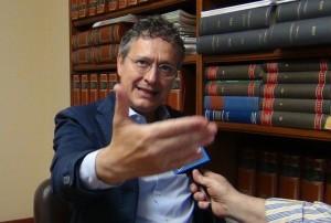L'avvocato Massimo Milazzo nel corso dell'intervista