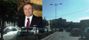 Traffico in corso gelone e nel riquadro l'assessore Salvatore Piccione