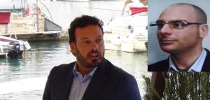 Il Vicesindaco Francesco Italia e il leader del M5S Stefano Zito nel riquadro