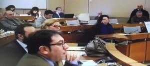 Luigi Canto  come revisore  siede nell'aula al Vermexio