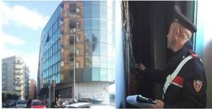 I Carabinieri indagano dopo la verifica del dei danni subiti  dal Comune al Palazzo di vetro