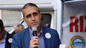 La foto di Antonello Rizza che appare ancora sul sito internet del Comune di Priolo.