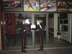 Carabinieri sequestrano sala giochi