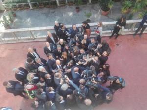 Sicilia: Musumeci incontra i giornalisti dopo la proclamazione a presidente della  Regione ( Foto Pecoraro)