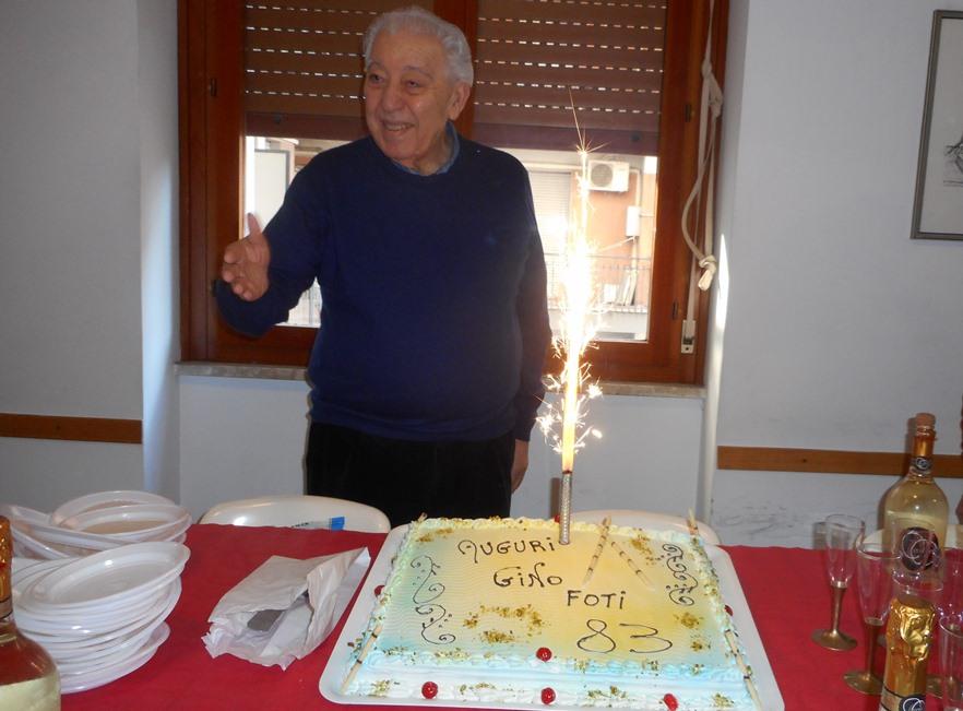 Luigi Foti  affronta i suoi primi 83 anni