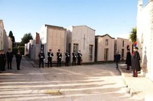Onore reso al carabiniere Gangi