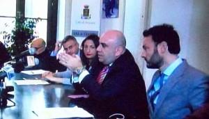 il sindaco Garozzo e i suoi assessori