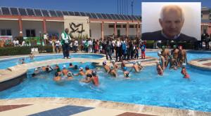 La piscina di cui si parla nell'articolo e nel riquadro Salvo Baio