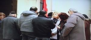 Una protesta dei lavoratori di Siracusa Risorse
