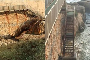 Le scale pericolose da ripristinare