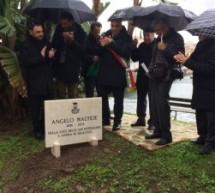 Siracusa – Una lapide in via De Mille per ricordare il fotografo Angelo Maltese.