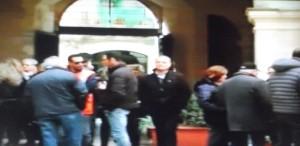 Una protesta dei lavoratori di Sr Risorse