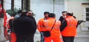 Protesta dei lavoratori di Sr-Risorse