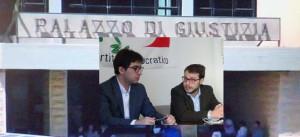 Il segretario provinciale PD Alessio Lo Giudice e il segretario regionale Fausto Raciti