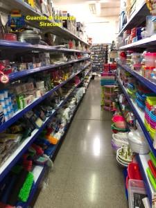 Uno dei negozi controllati