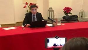 La conferenza stampa di Massimo Carrubba del dicembre scorso