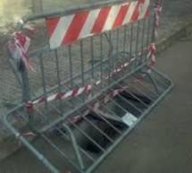 Siracusa- I furti di caditoie in via Temistocle impongono modifiche alla viabilità