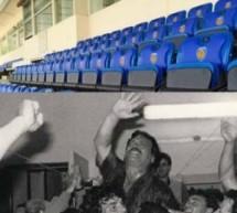 """Siracusa – Una gradinata dello stadio intitolata al """"mitico"""" presidente Imbesi"""