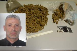 Vasile,  la droga e la pistola  sequestrate