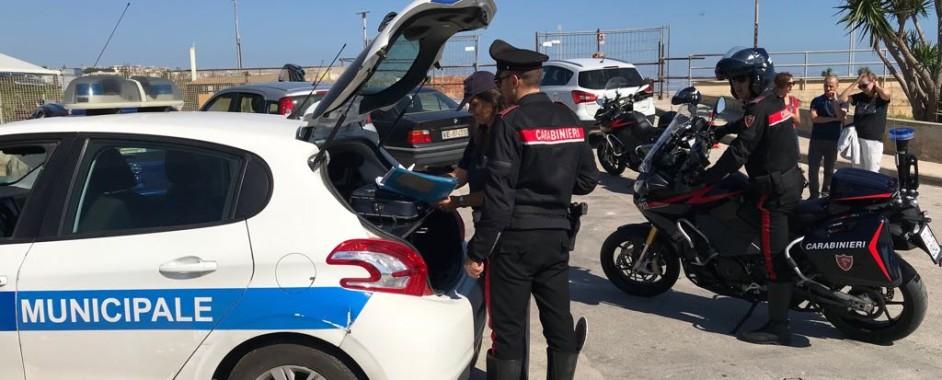 Siracusa:Intervento dei Carabinieri contro i parcheggiatori abusivi